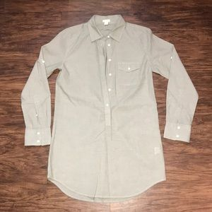 J.Crew Button Down Dress Shirt Tunic Size XS